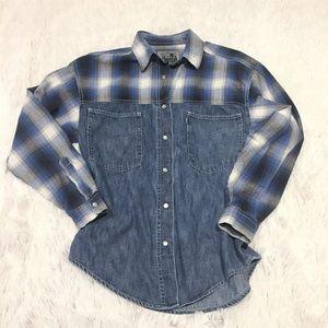 Levi's Silvertab Western Shirt Denim Snap Buttons